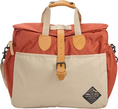 United by Blue Deuhl Laptop Messenger Bag Rust/Tan - United by Blue Messenger Bags