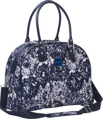 Isaac Mizrahi Boldon DLX Travel Dome Satchel Black/White - Isaac Mizrahi Luggage Totes and Satchels
