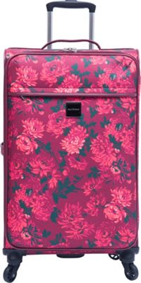 Isaac Mizrahi Irwin 2 29 inch Checked Spinner Luggage Berry - Isaac Mizrahi Softside Checked