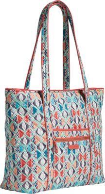 Vera Bradley Iconic Vera Tote Autumn Leaves - Vera Bradley Fabric Handbags