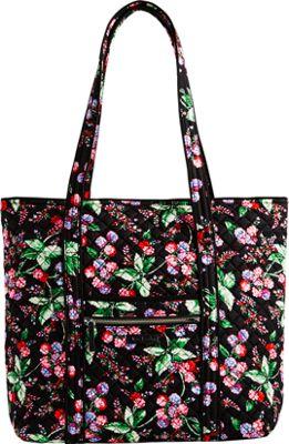 Vera Bradley Iconic Vera Tote Winter Berry - Vera Bradley Fabric Handbags