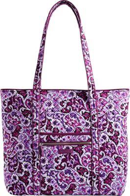 Vera Bradley Iconic Vera Tote Lilac Paisley - Vera Bradley Fabric Handbags