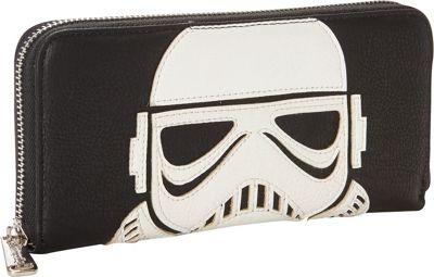 Loungefly Star Wars Laser Cut Storm Trooper Wallet Blk/Wht - Loungefly Women's Wallets
