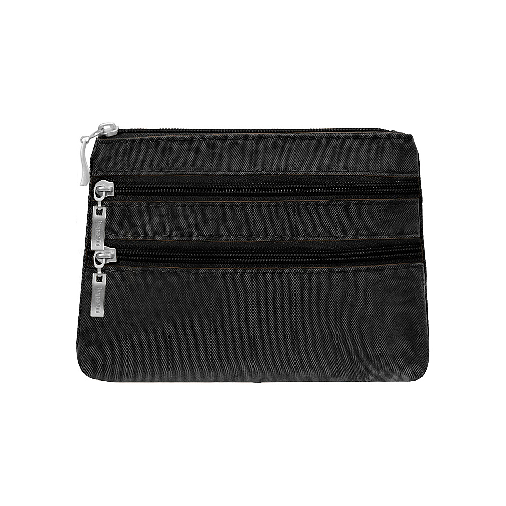 baggallini 3 Zip Cosmetic Case - Retired Colors Black/Cheetah - baggallini Womens SLG Other - Women's SLG, Women's SLG Other