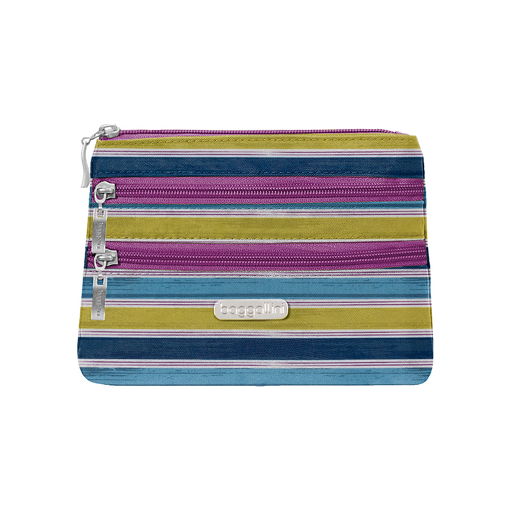 baggallini 3 Zip Cosmetic Case - Retired Colors Tropical Stripe - baggallini Womens SLG Other - Women's SLG, Women's SLG Other
