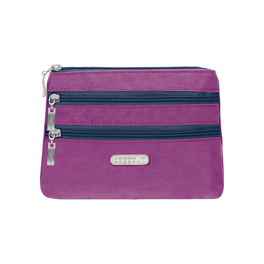 baggallini 3 Zip Cosmetic Case - Retired Colors Magenta/Pacific - baggallini Womens SLG Other - Women's SLG, Women's SLG Other