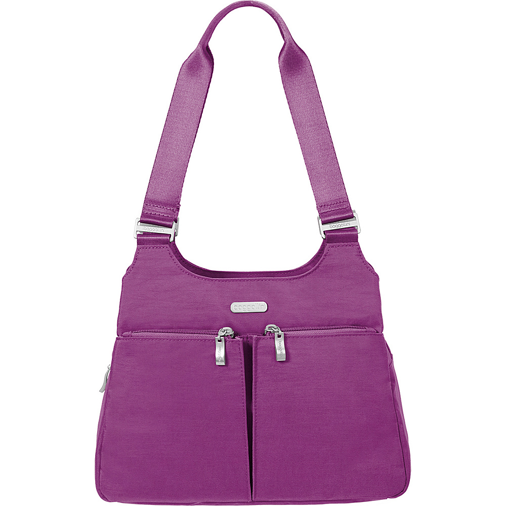 baggallini Satchel with RFID - Retired Colors Magenta - baggallini Fabric Handbags - Handbags, Fabric Handbags