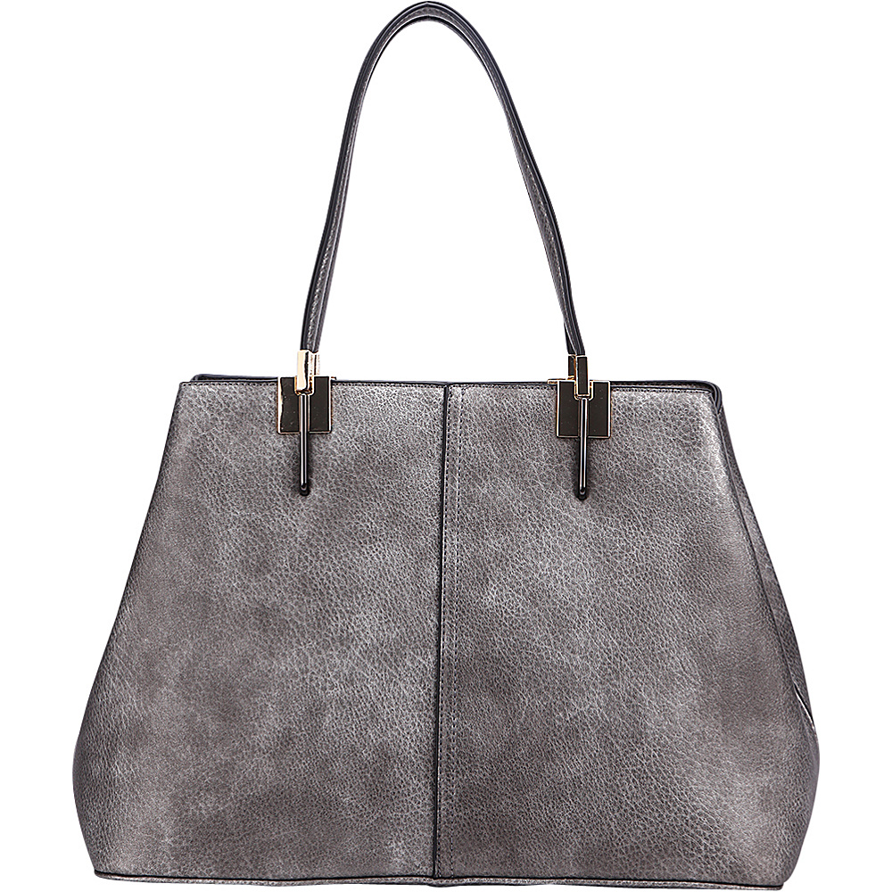 MKF Collection by Mia K. Farrow Brianna Shoulder Bag Pewter - MKF Collection by Mia K. Farrow Manmade Handbags - Handbags, Manmade Handbags