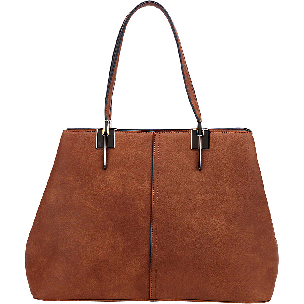 MKF Collection by Mia K. Farrow Brianna Shoulder Bag Brown - MKF Collection by Mia K. Farrow Manmade Handbags - Handbags, Manmade Handbags