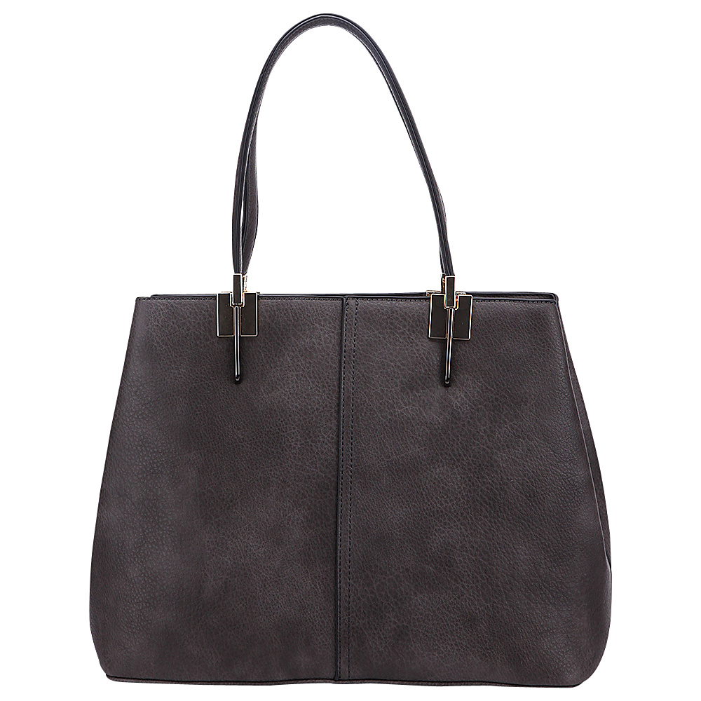 MKF Collection by Mia K. Farrow Brianna Shoulder Bag Dark Grey - MKF Collection by Mia K. Farrow Manmade Handbags - Handbags, Manmade Handbags