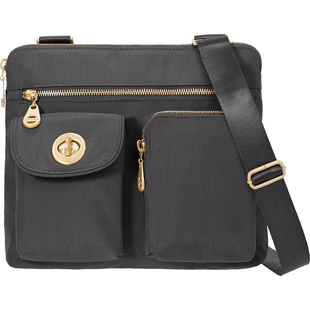 baggallini Melbourne Crossbody Charcoal - baggallini Fabric Handbags - Handbags, Fabric Handbags