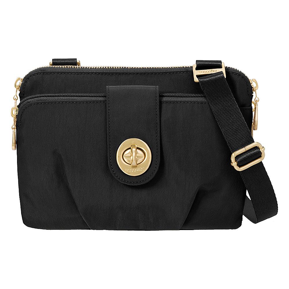 baggallini Toronto Double Zip Crossbody Black - baggallini Fabric Handbags - Handbags, Fabric Handbags