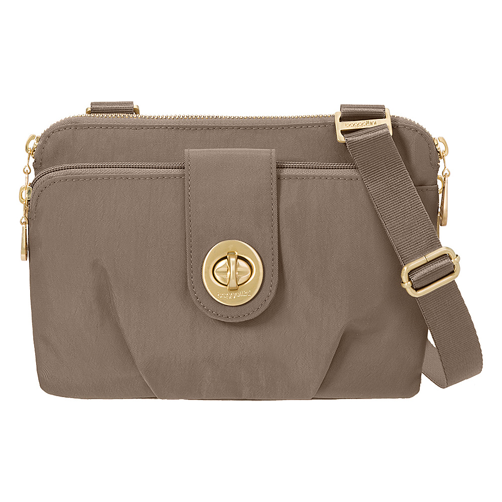 baggallini Toronto Double Zip Crossbody Portobello - baggallini Fabric Handbags - Handbags, Fabric Handbags