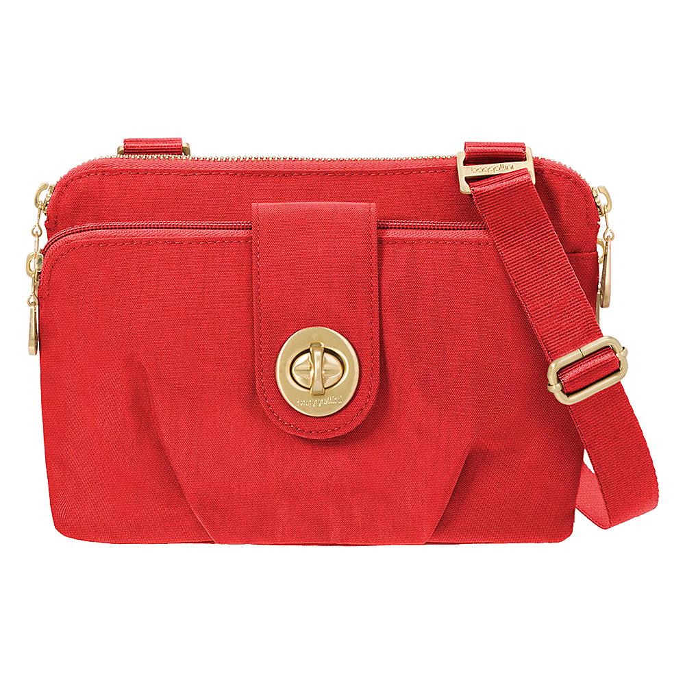 baggallini Toronto Double Zip Crossbody Hibiscus - baggallini Fabric Handbags - Handbags, Fabric Handbags