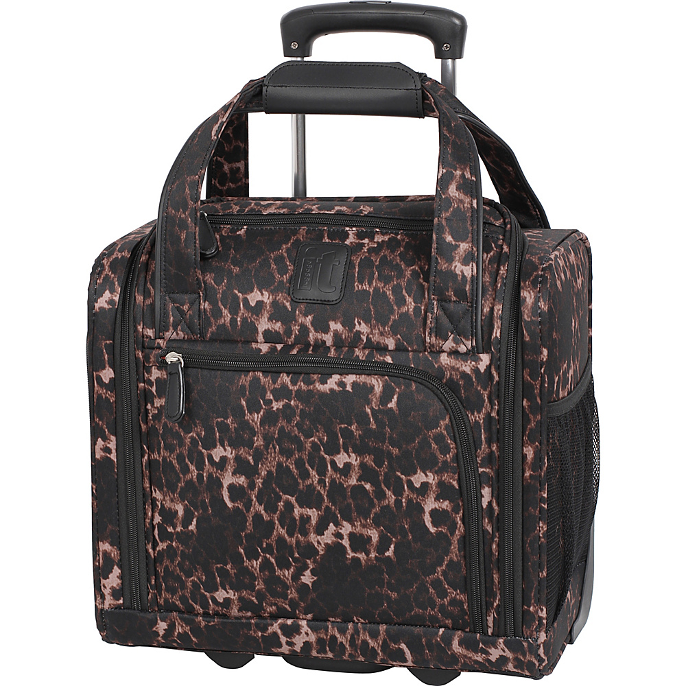 it luggage Catwalk 2 Wheel Underseat Carry On Luggage Dark Leopard - it luggage Softside Carry-On
