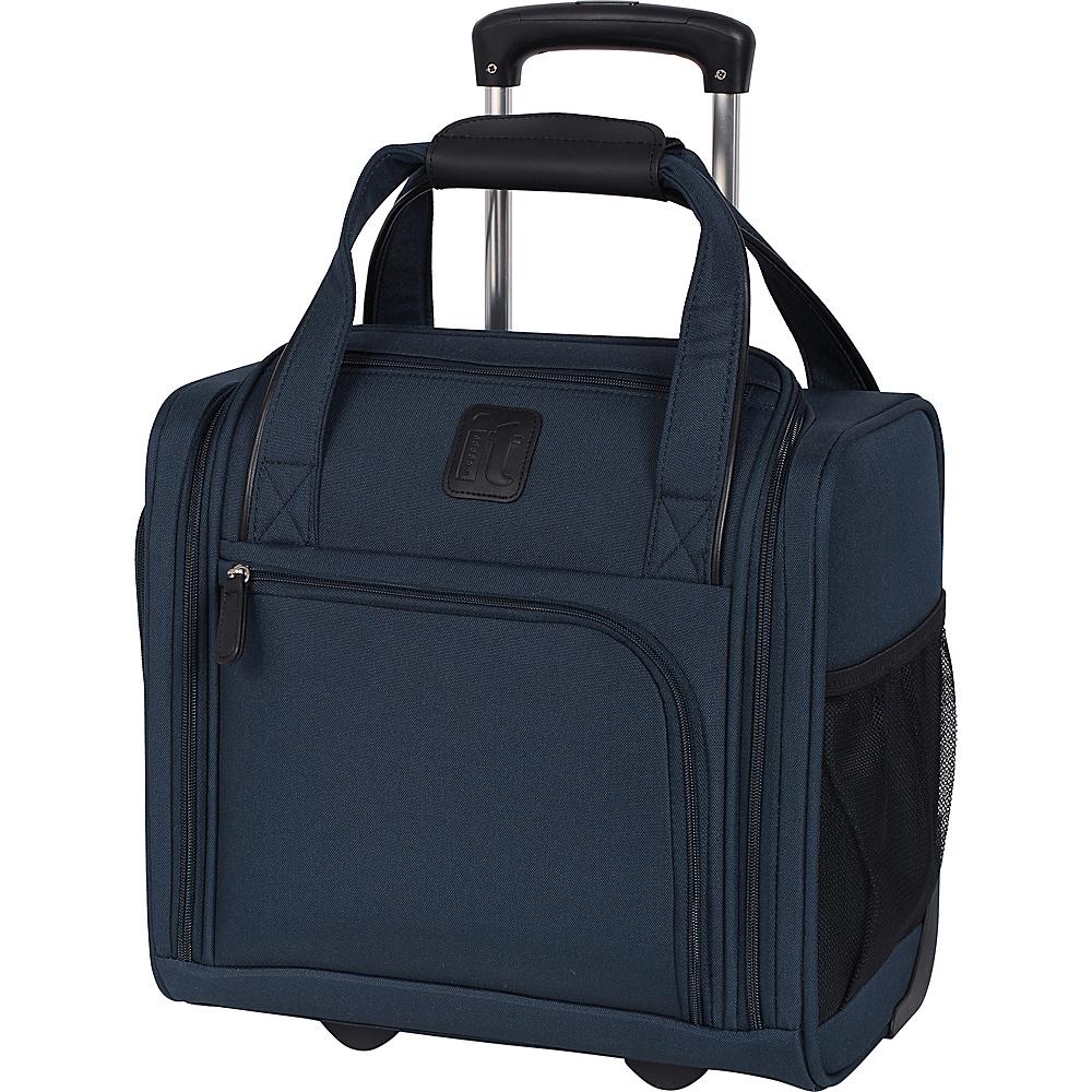 it luggage Catwalk 2 Wheel Underseat Carry On Luggage Dress Blues - it luggage Softside Carry-On