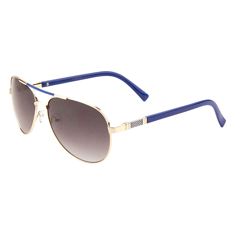 SW Global Cher Double Bar Aviator Fashion Sunglasses Gold-Blue - SW Global Eyewear - Fashion Accessories, Eyewear