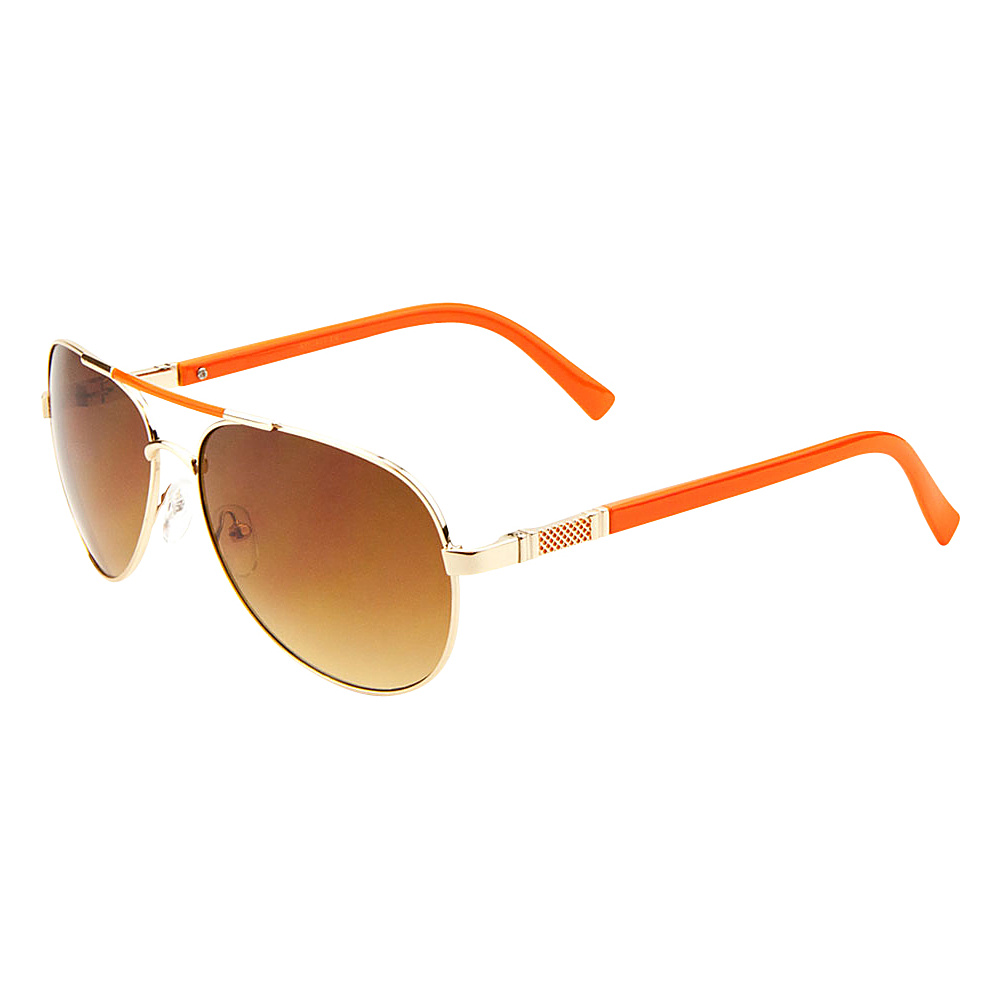 SW Global Cher Double Bar Aviator Fashion Sunglasses Gold-Orange - SW Global Eyewear - Fashion Accessories, Eyewear