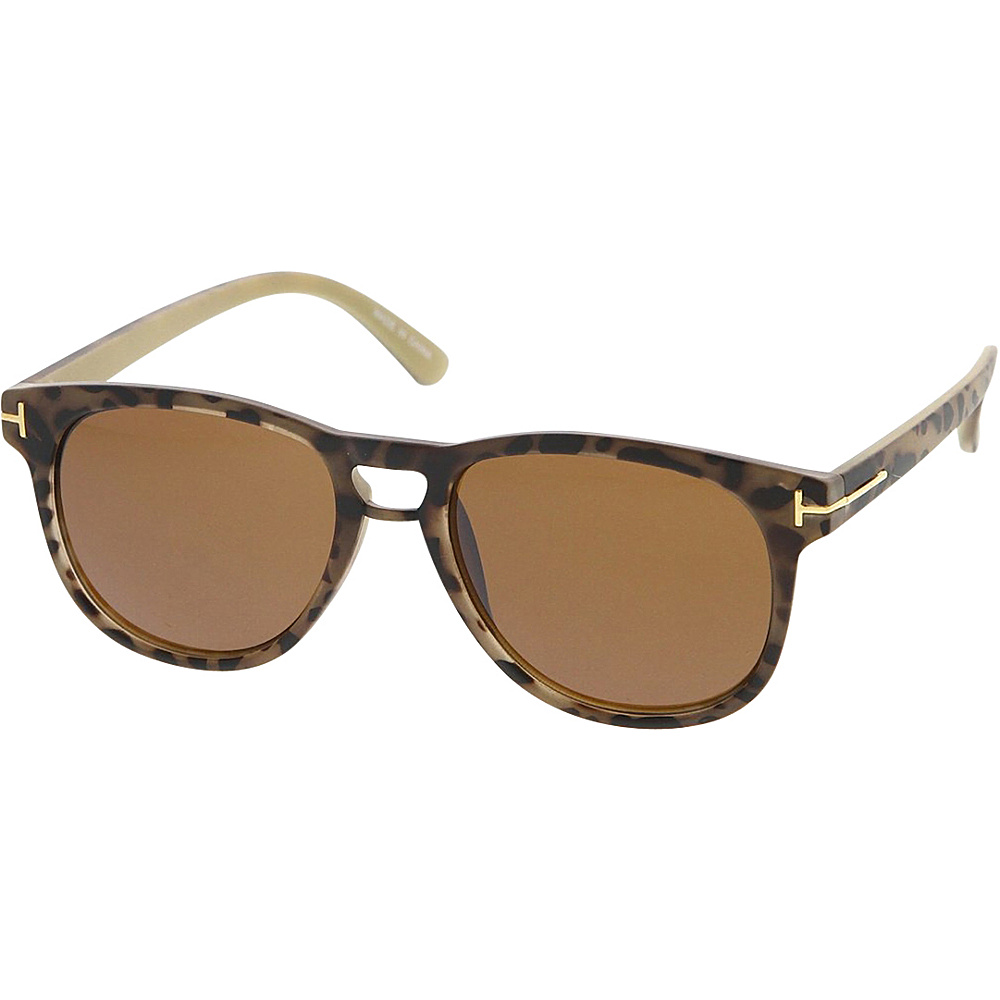 SW Global Womens Retro Fashion Horn Rimmed Sunglasses Leopard - SW Global Eyewear - Fashion Accessories, Eyewear