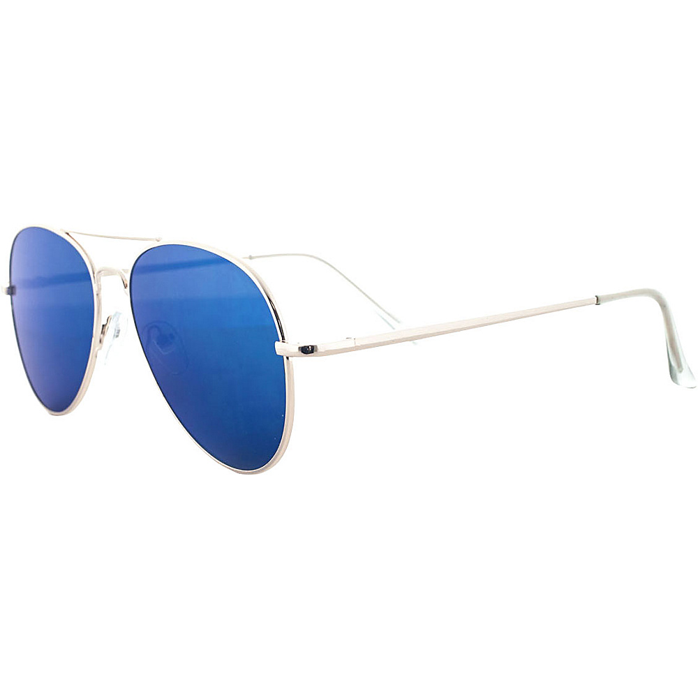 SW Global Pure Flat Flash Lens Aviator UV400 Sunglasses Blue - SW Global Eyewear - Fashion Accessories, Eyewear