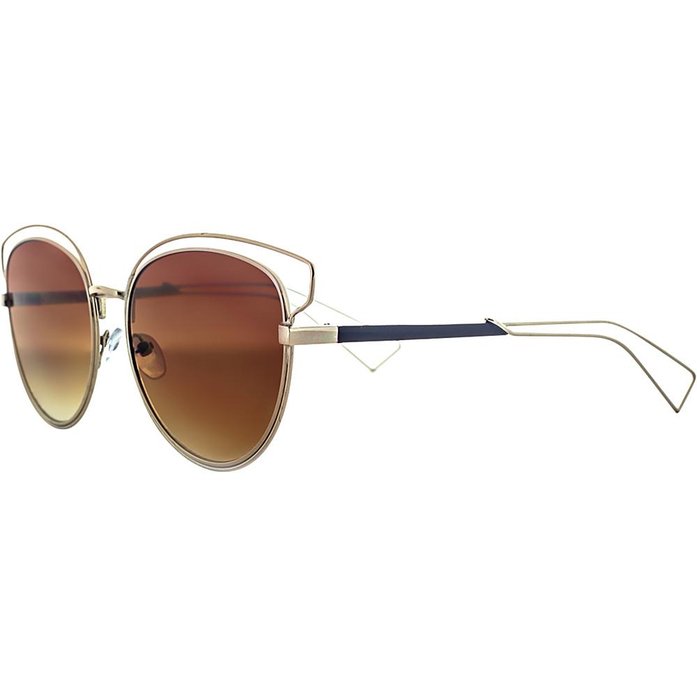 SW Global Rectangular Frame Full Metal Aviator UV400 Sunglasses Brown - SW Global Eyewear - Fashion Accessories, Eyewear