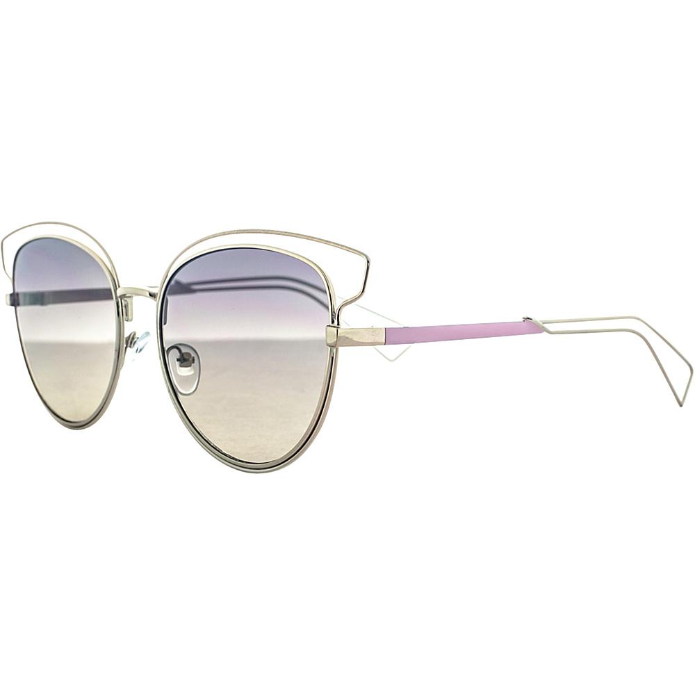 SW Global Rectangular Frame Full Metal Aviator UV400 Sunglasses Pink - SW Global Eyewear - Fashion Accessories, Eyewear