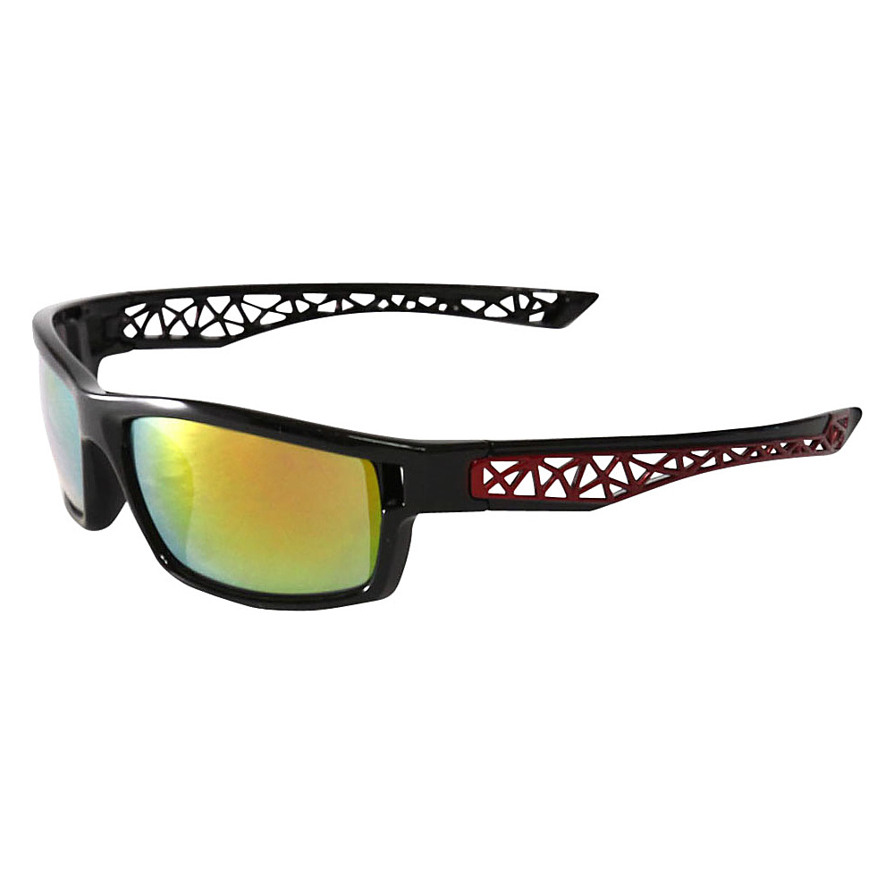 SW Global Outdoors Sports Full Square Framed UV400 Sunglasses Black Red Yellow Orange Green - SW Global Eyewear - Fashion Accessories, Eyewear