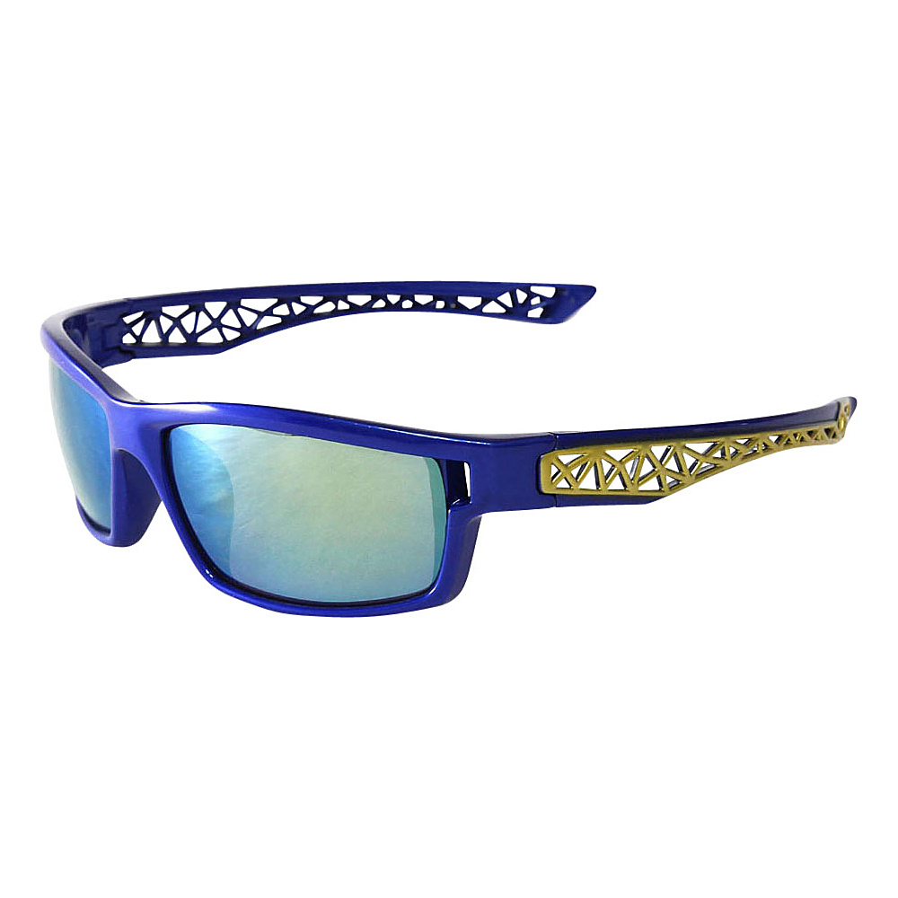 SW Global Outdoors Sports Full Square Framed UV400 Sunglasses Blue Gold Blue Purple Green - SW Global Eyewear - Fashion Accessories, Eyewear