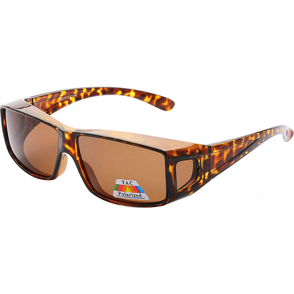 SW Global Polarized Full View Fit Over Sunglasses Brown - SW Global Eyewear - Fashion Accessories, Eyewear