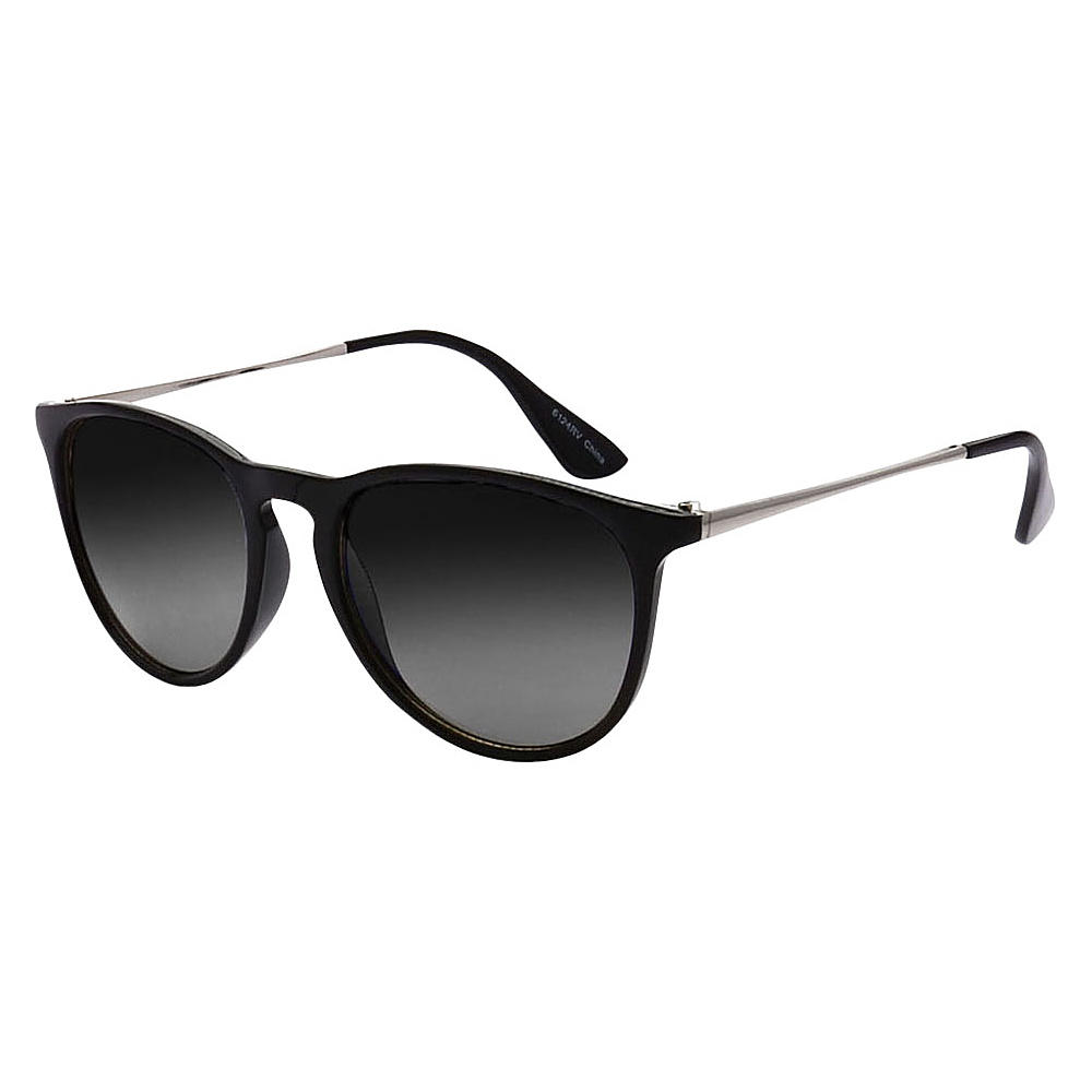 SW Global Rutgers Full Frame Retro Square UV400 Sunglasses Black - SW Global Eyewear - Fashion Accessories, Eyewear
