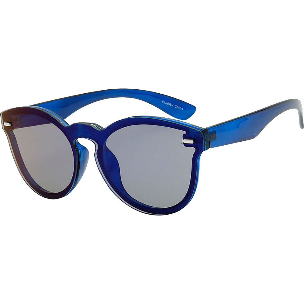 SW Global High Fashion Horn Rimmed Frameless Sunglasses Model:1 Blue - SW Global Eyewear - Fashion Accessories, Eyewear
