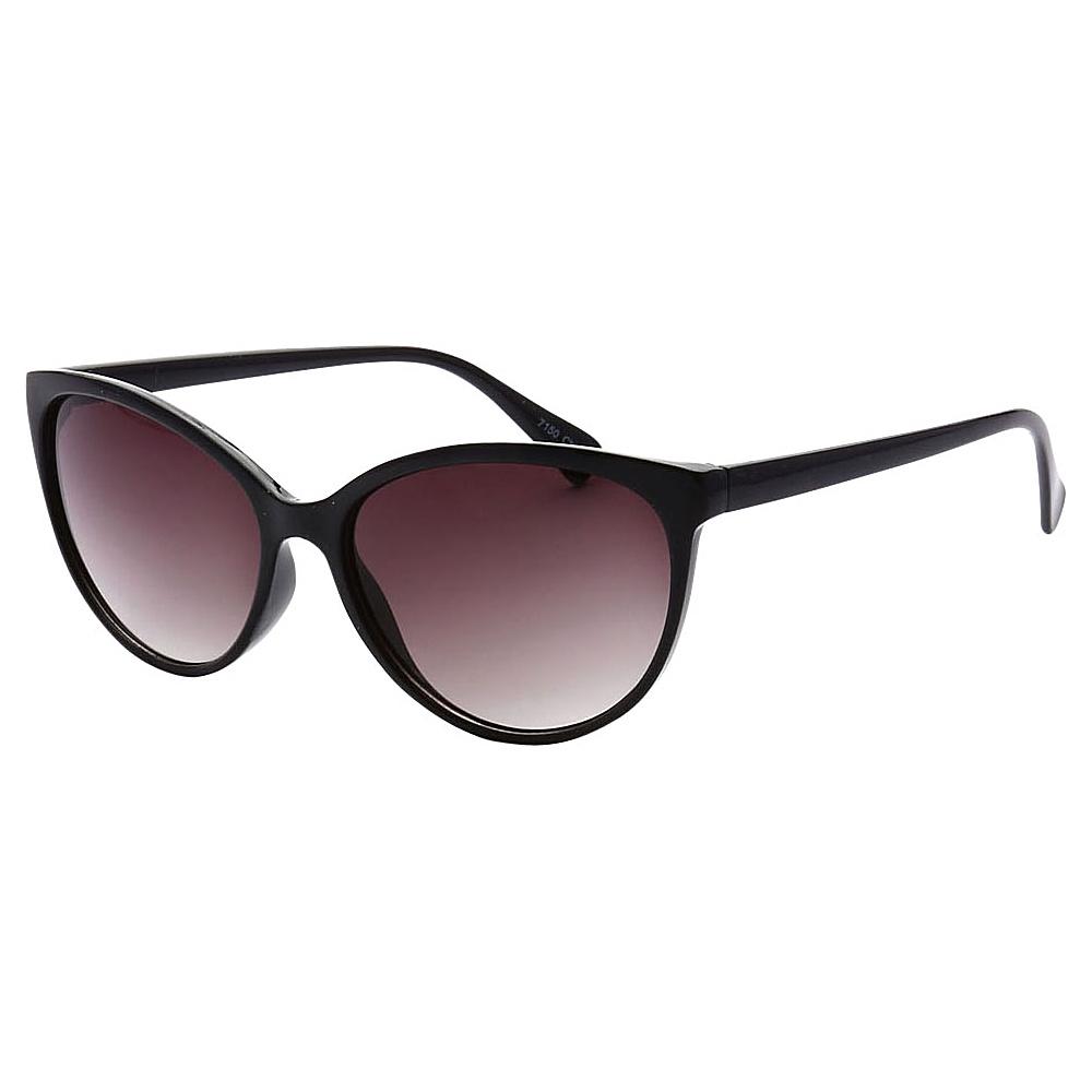 SW Global Womens Minneapolis Cateye Retro Square Sunglasses Black - SW Global Eyewear - Fashion Accessories, Eyewear
