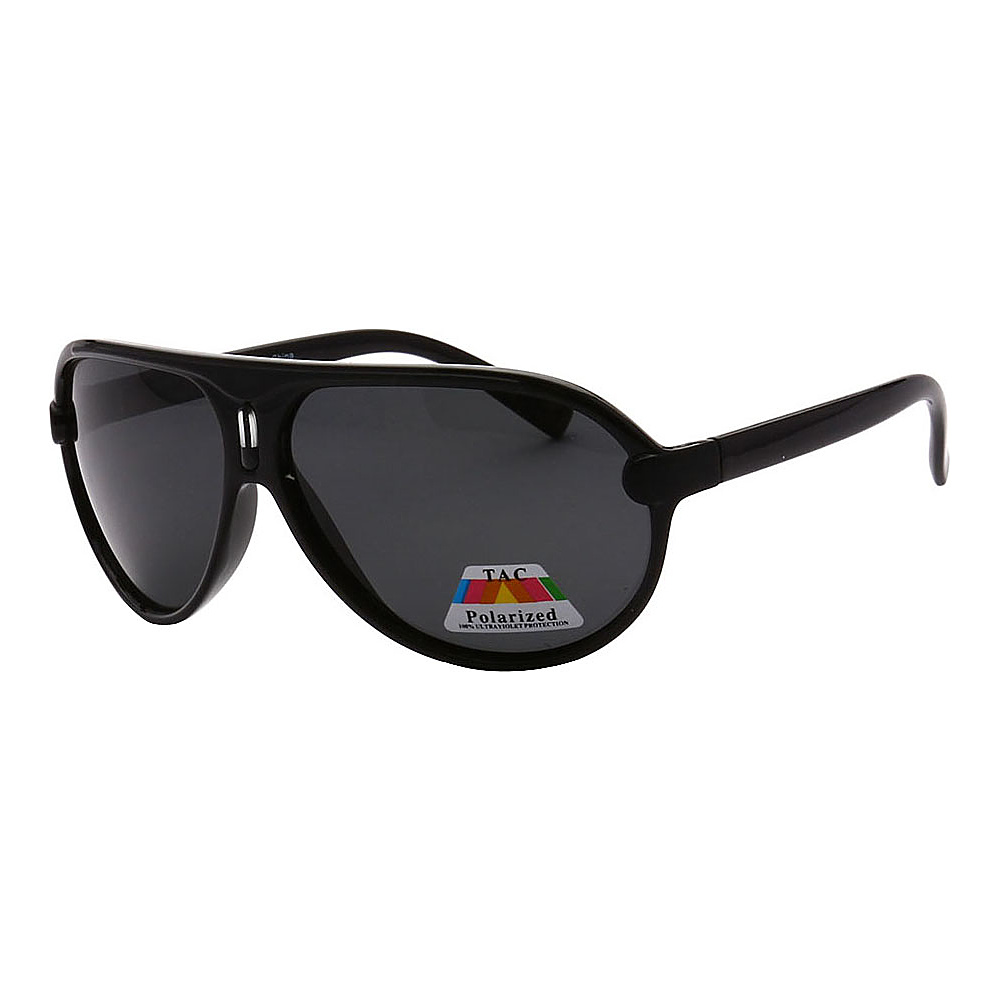 SW Global Polarized Full Metal Frame Sporty Aviator Sunglasses Black Black - SW Global Eyewear - Fashion Accessories, Eyewear