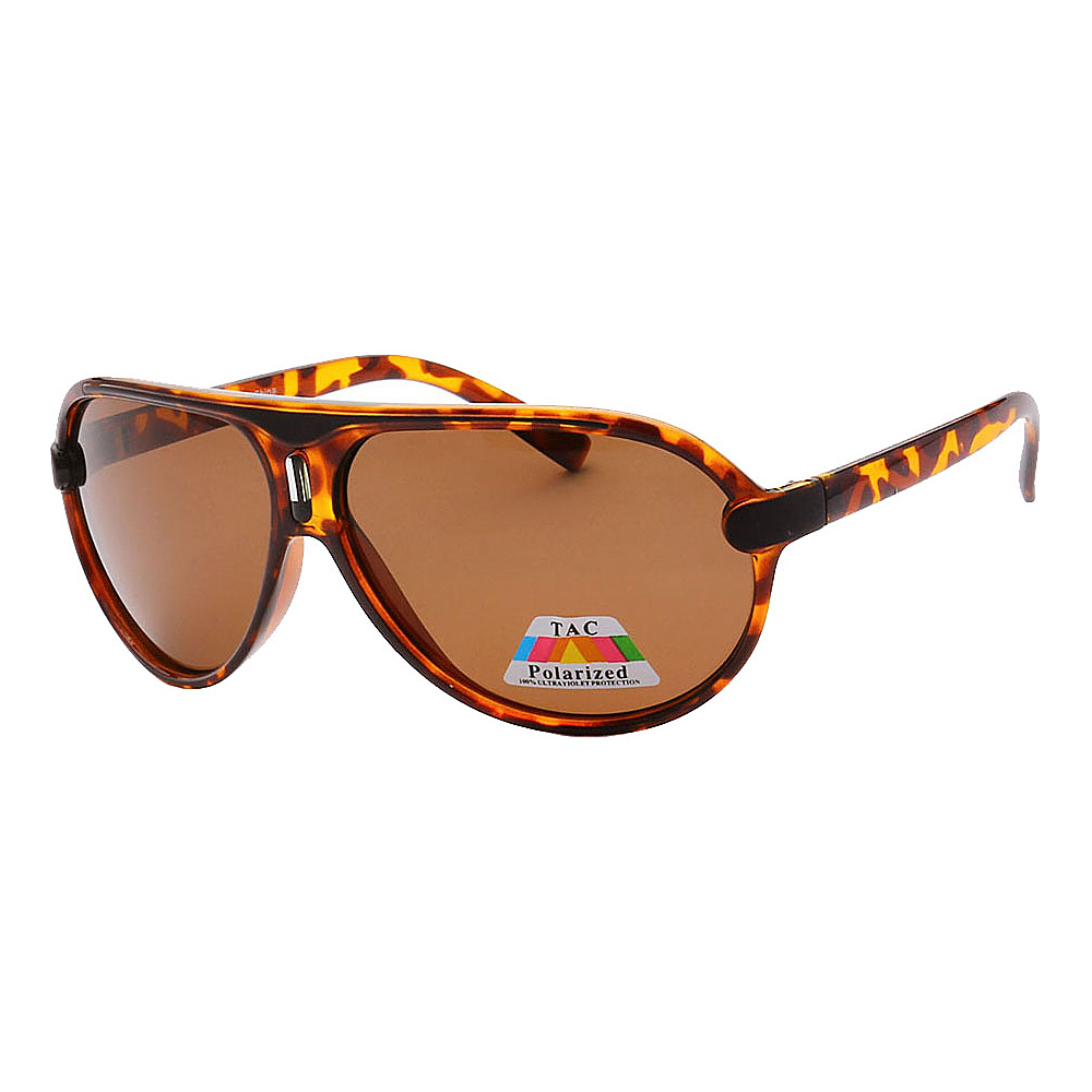 SW Global Polarized Full Metal Frame Sporty Aviator Sunglasses Leopard Brown - SW Global Eyewear - Fashion Accessories, Eyewear