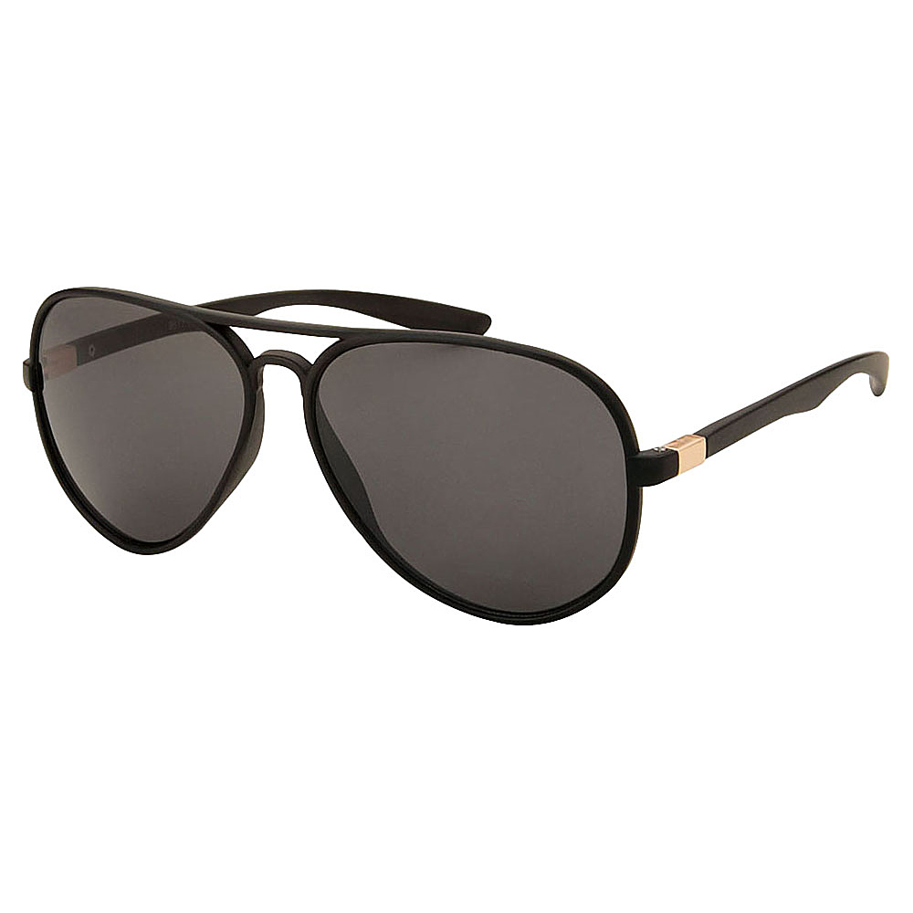 SW Global Full Metal Frame Sporty Aviator UV400 Sunglasses Black Black - SW Global Eyewear - Fashion Accessories, Eyewear