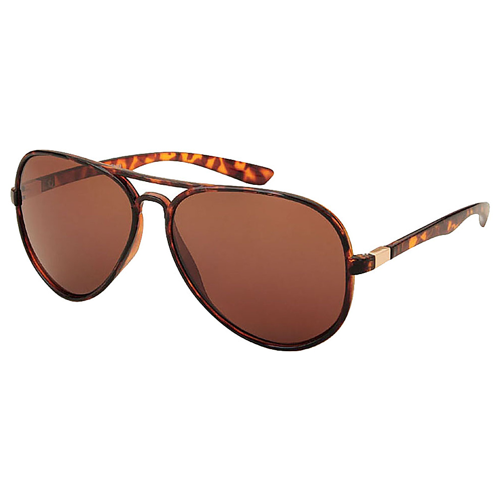 SW Global Full Metal Frame Sporty Aviator UV400 Sunglasses Leopard Brown - SW Global Eyewear - Fashion Accessories, Eyewear