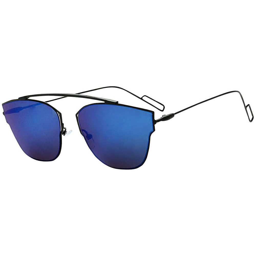 SW Global Womens Sophisticated Single Bar Flat Top Aviator Sunglasses Blue - SW Global Eyewear - Fashion Accessories, Eyewear