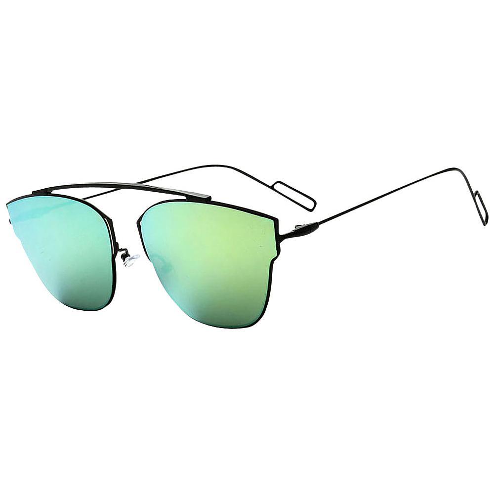 SW Global Womens Sophisticated Single Bar Flat Top Aviator Sunglasses Green - SW Global Eyewear - Fashion Accessories, Eyewear