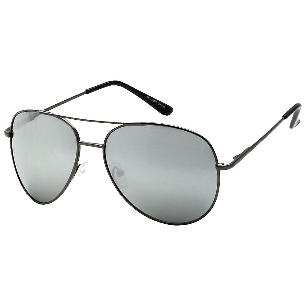 SW Global Classic Reflective Mirror Lens Aviator Sunglasses Black - SW Global Eyewear - Fashion Accessories, Eyewear