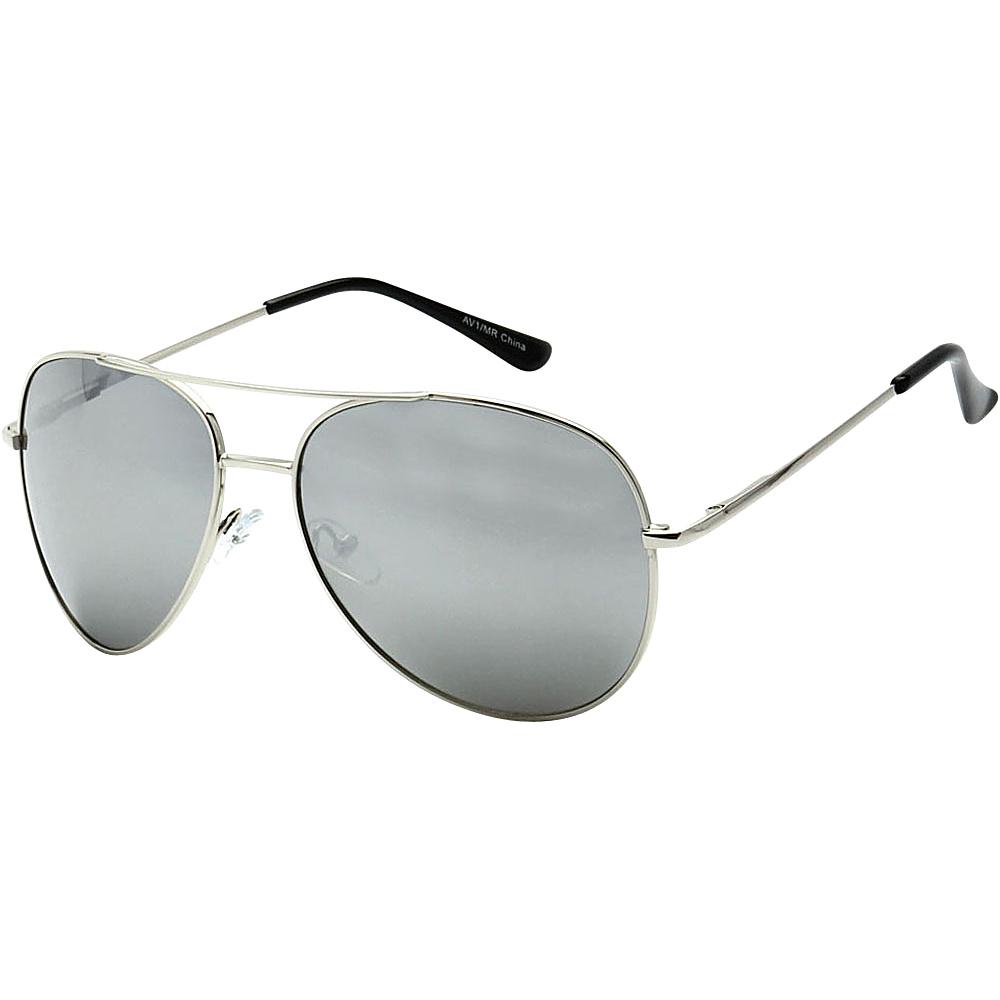 SW Global Classic Reflective Mirror Lens Aviator Sunglasses Silver - SW Global Eyewear - Fashion Accessories, Eyewear