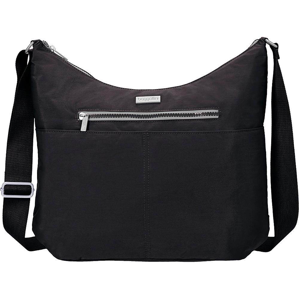 baggallini Zion Hobo Black/Pewter - baggallini Fabric Handbags - Handbags, Fabric Handbags
