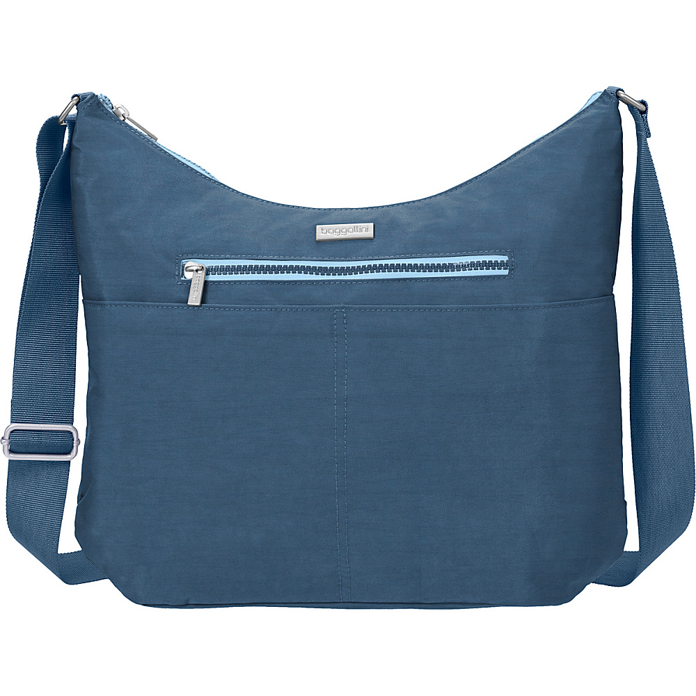 baggallini Zion Hobo Slate Blue - baggallini Fabric Handbags - Handbags, Fabric Handbags