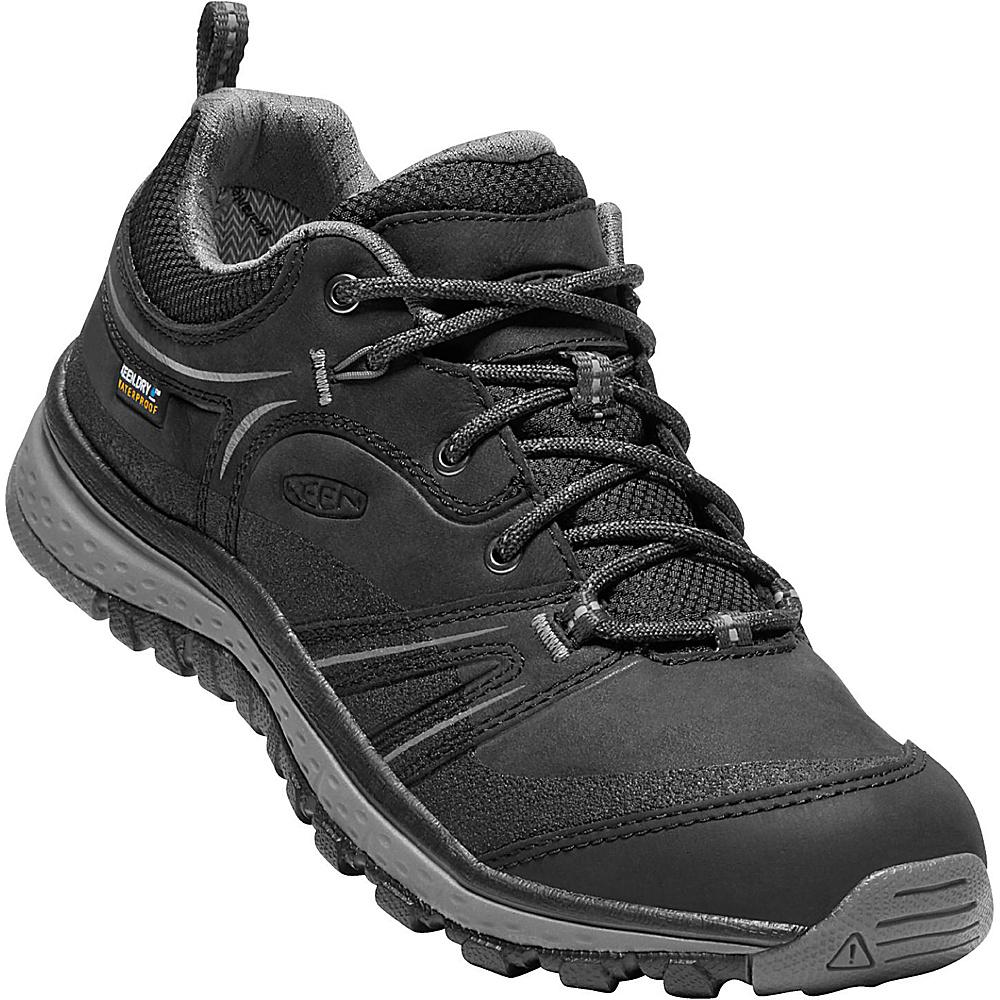 KEEN Womens Terradora Leather Waterproof Shoe 5 - Black/Steel Grey - KEEN Mens Footwear - Apparel & Footwear, Men's Footwear