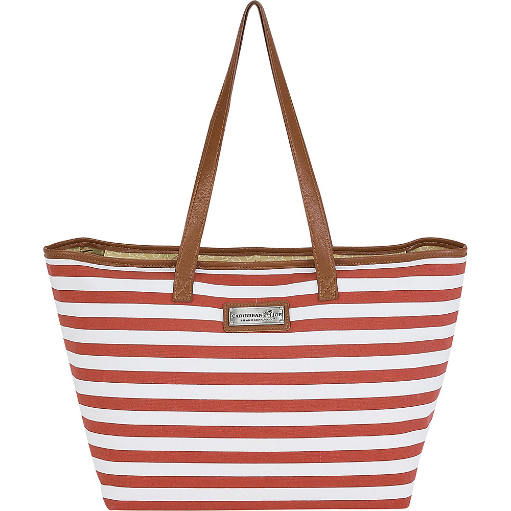 Sun N Sand Nautical Stripes Shoulder Tote Red Multi - Sun N Sand Fabric Handbags - Handbags, Fabric Handbags