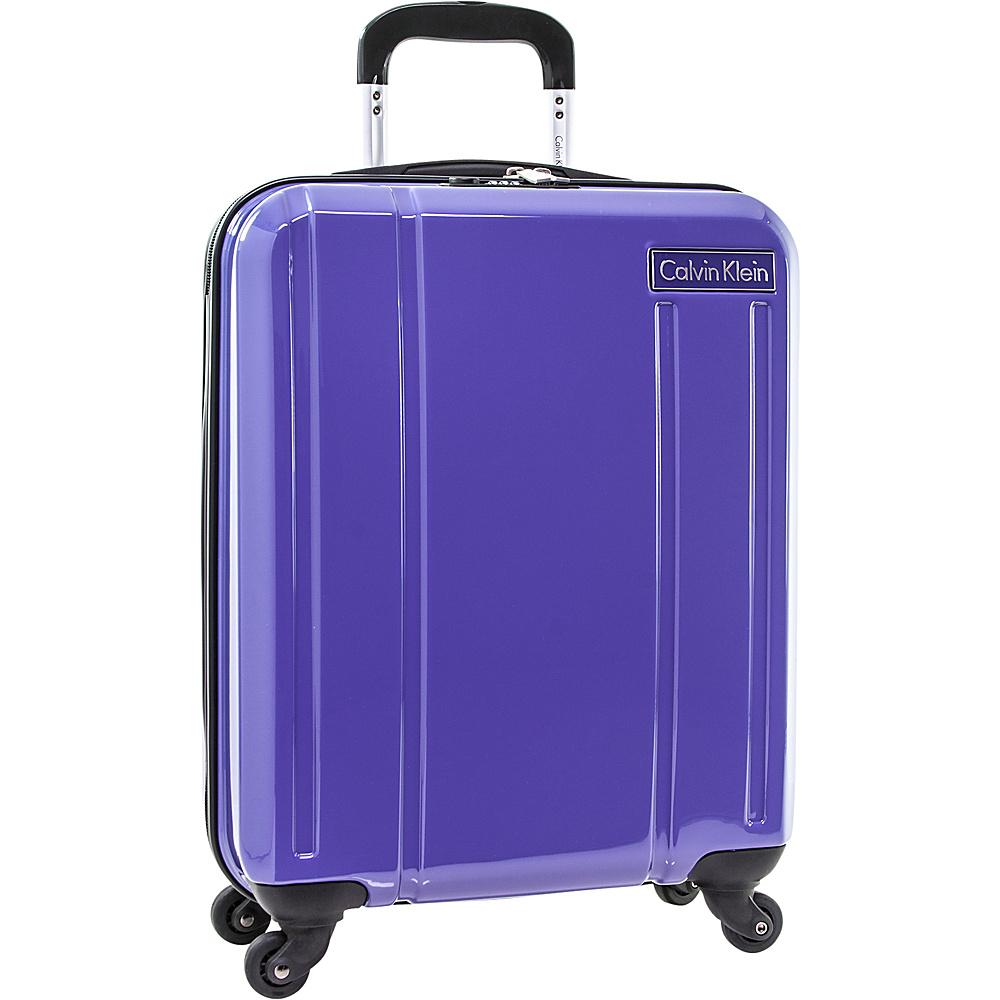 b89d282411 Calvin Klein Luggage Beacon 21 Carry-On Hardside Spinner Luggage Purple - Calvin  Klein Luggage