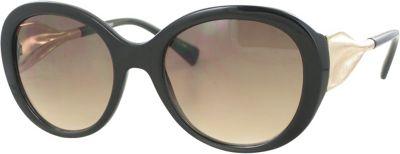 Kay Unger Round Sunglasses Black/Smoke to Brown Lens - Kay Unger Eyewear