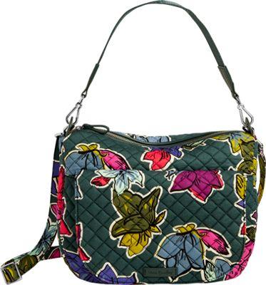 Vera Bradley Carson Shoulder Bag Falling Flowers - Vera Bradley Fabric Handbags