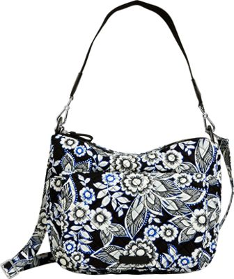 Vera Bradley Carson Shoulder Bag Snow Lotus - Vera Bradley Fabric Handbags