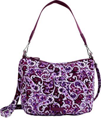 Vera Bradley Carson Shoulder Bag Lilac Paisley - Vera Bradley Fabric Handbags