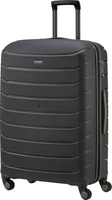 Titan Bags Limit Unbreakable 30 inch Hardside Checked Spinner Luggage Black - Titan Bags Large Rolling Luggage